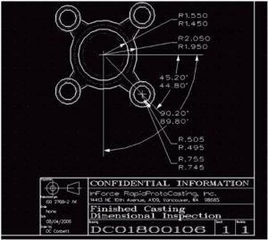 Engineered GD&T 2-D drawings from your sketch or pre-CAD flat file.