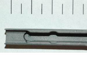 Complex precision titanium casting (1 div = 1 mm)
